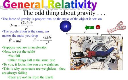 The odd thing about gravity . . .