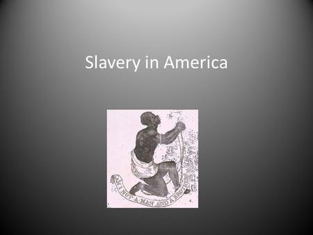 Slavery in America. Table of Contents History of Slavery The Trans-Atlantic Slave Trade Slavery in America (Click Title to go to Content)