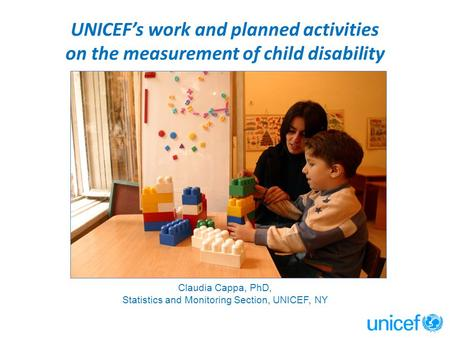 Statistics and Monitoring Section, UNICEF, NY