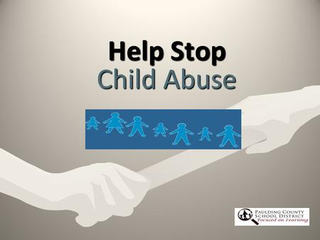 Help Stop Child Abuse.