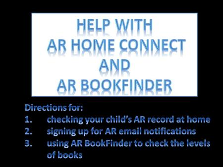 Help with AR HOME Connect and AR Bookfinder