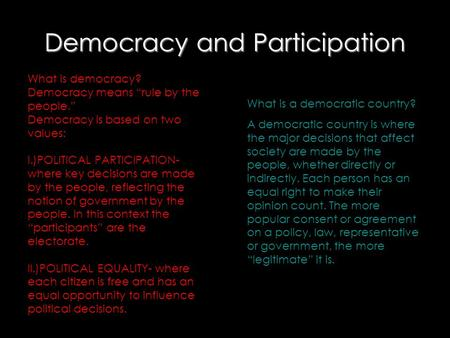 Democracy <strong>and</strong> Participation