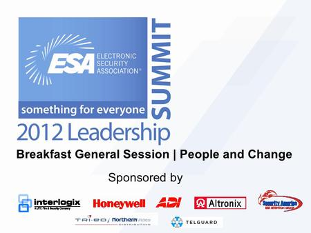 Breakfast General Session | People and Change Sponsored by.