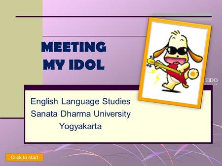English Language Studies Sanata Dharma University Yogyakarta