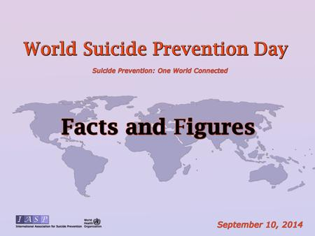 Every year, almost one million people die from suicide; this roughly corresponds to one death every 40 seconds.