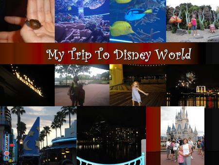 My Trip To Disney World. Getting There When mom first told me that me, mom, and grandma were going to Disney World, I got really exited! Mom said that.