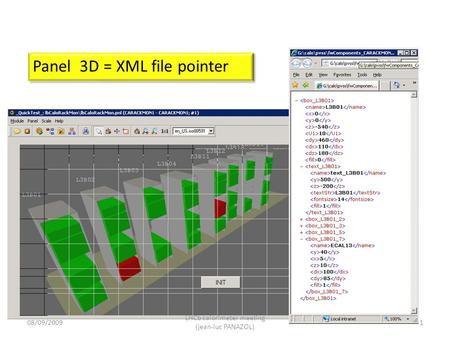 Panel 3D = XML file pointer 08/09/20091 LHCb calorimeter meeting (jean-luc PANAZOL)