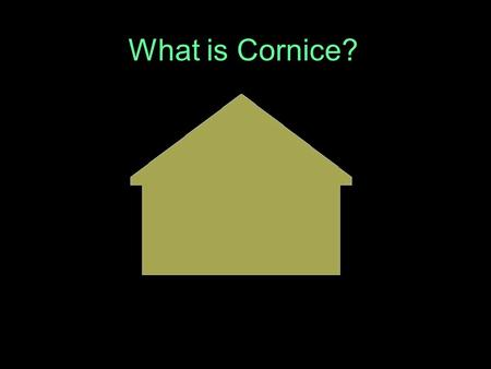 What is Cornice?.