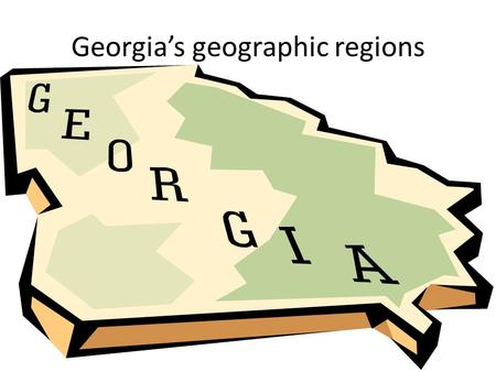 Georgia's geographic regions