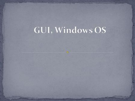 A graphical user interface (GUI) is a human-computer interface (i.e., a way for humans to interact with computers) that uses windows, icons and menus.