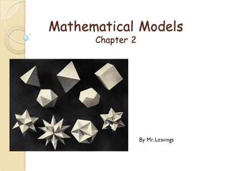 Mathematical Models Chapter 2