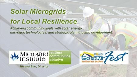 What is Microgrid Institute? Microgrid Institute is a collaborative organization that focuses on key factors affecting microgrids and distributed energy.