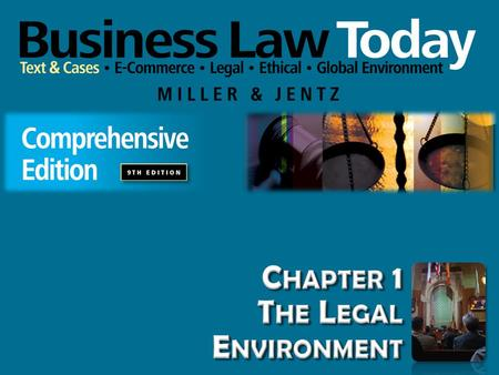 Chapter 1 The Legal Environment