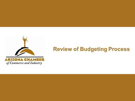 Review of Budgeting Process. State General Fund Revenues.