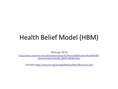 Health Belief Model Protection Motivation Theory Ppt Video
