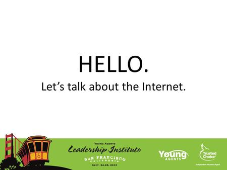 HELLO. Let's talk about the Internet.. Chris Jordan