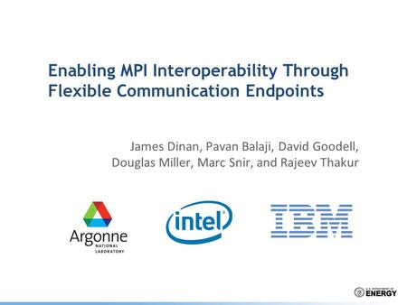 Enabling MPI Interoperability Through Flexible Communication Endpoints