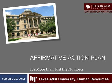 Affirmative action Plan It's More than Just the Numbers