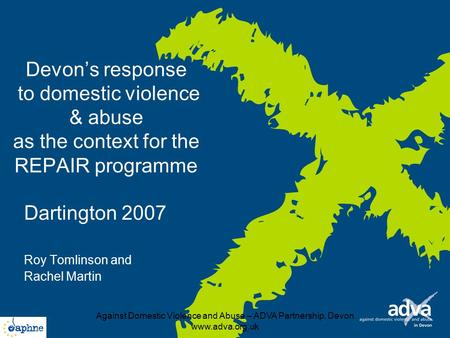 Against Domestic Violence and Abuse – ADVA Partnership, Devon