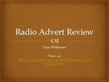 Dani Wilkinson View on  -advert-review  -advert-review