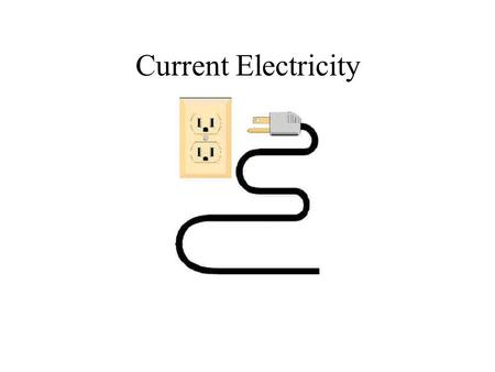 "Current Electricity. Current Electricty Unlike Static electricity which does not flow, Current electricity ""flows"" through a circuit. The electrons flow."