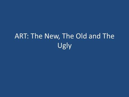 ART: The New, The Old and The Ugly. Our Current ARVS The Nucleoside/ Nucleotide Reverse Transcriptase Inhibitors (NRTIs/ NtRTIs) The Non-Nucleoside Reverse.