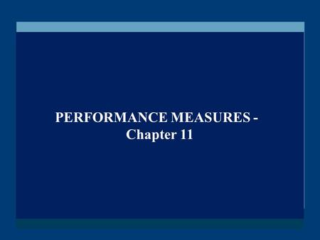 PERFORMANCE MEASURES -