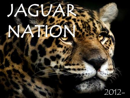 2012- 2013. The Jaguar Nation Welcomes You 107/207.