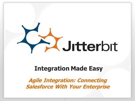1 Integration Made Easy Agile Integration: Connecting Salesforce With Your Enterprise.