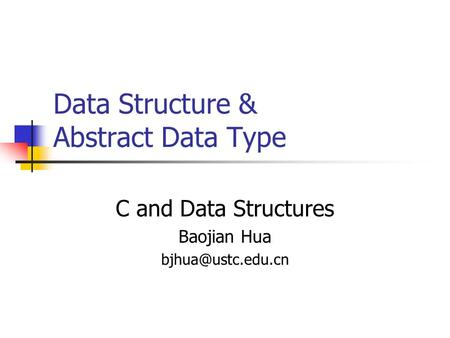 Data Structure & Abstract Data Type