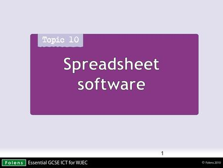 Spreadsheet software 1. Spreadsheets 2 Spreadsheet software Components of spreadsheets Labels - are used for titles, headings, names, and for identifying.