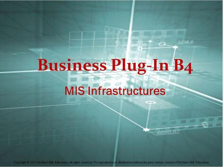 Business Plug-In B4 MIS Infrastructures.