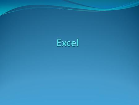 Excel The purpose of a spreadsheet is to solve problems involving numbers. A worksheet consists of columns and rows that intersect to form cells. Each.