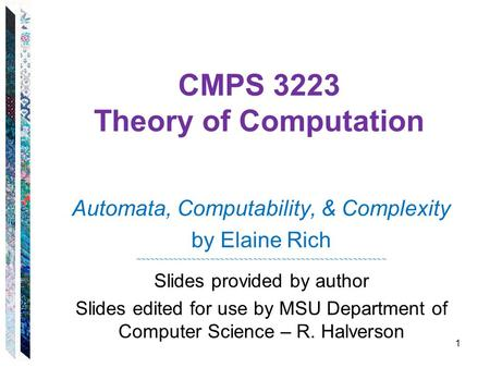 CMPS 3223 Theory of Computation