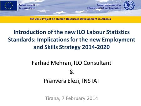 IPA 2010 Project on Human Resources Development in Albania