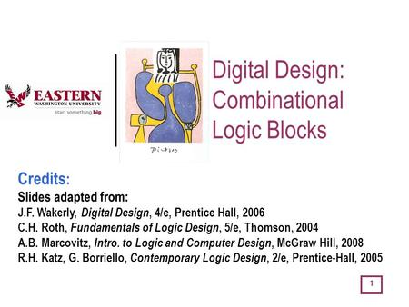 Digital Design: Combinational Logic Blocks