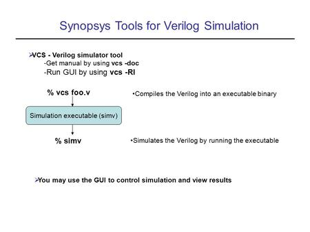 Simulation executable (simv)