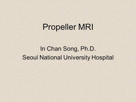 In Chan Song, Ph.D. Seoul National University Hospital