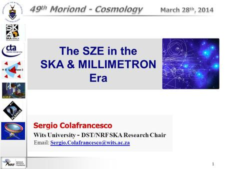1 The SZE in the SKA & MILLIMETRON Era. The SZE: Physics high-energy photon Internal High-E electrons - thermal (supra-thermal) - relativistic ↑ Use CMB.