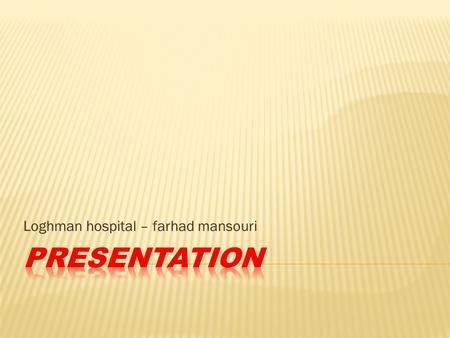 Loghman hospital – farhad mansouri. IS THE GRAY MATTER INVOLVED? level of conciousness content of conciousness.