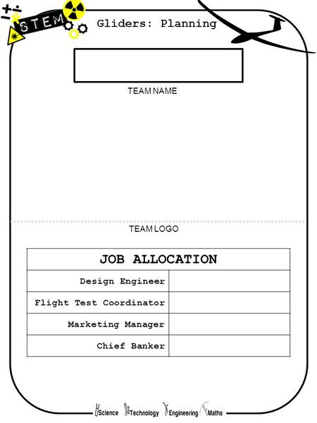 JOB ALLOCATION Gliders: Planning Design Engineer