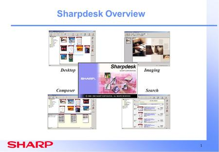 Sharpdesk Overview Desktop Composer Search Imaging