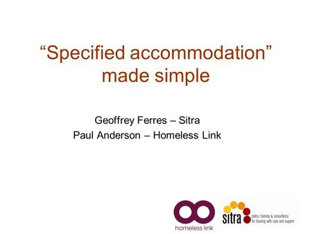"""Specified accommodation"" made simple"