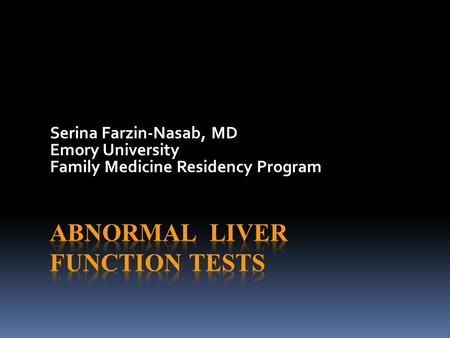 Serina Farzin-Nasab, MD Emory University Family Medicine Residency Program.
