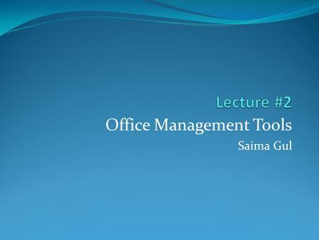 Office Management Tools Saima Gul. The System Unit What is the system unit? p. 4.04 Fig. 4-1 Next  Case that contains electronic components of the computer.