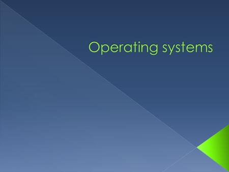  An operating system (OS) is a set of computer programs that allow the user to perform basic tasks like copying, moving, saving and printing files. 