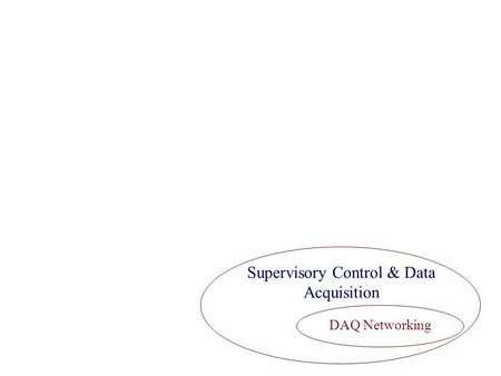 Supervisory Control & Data Acquisition DAQ Networking.