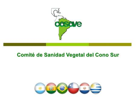 Comité de Sanidad Vegetal del Cono Sur. New President and Secretariat Coordination President of COSAVE Agr. Eng. Diego Quiroga - since March 2010 Secretary.