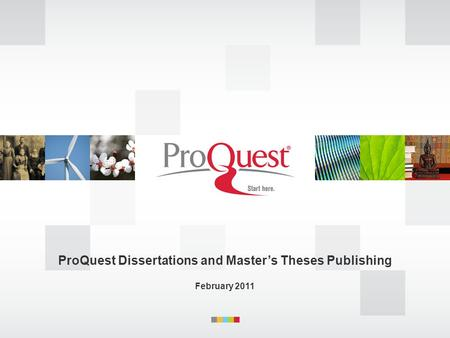 ProQuest Dissertations and Master's Theses Publishing February 2011.