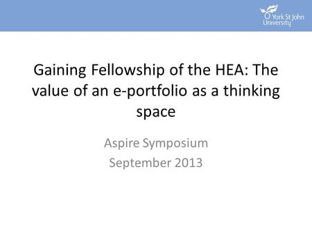 Aspire Symposium September 2013